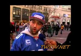 "New York Giant fan says ""Eli will get his 2nd super bowl ring today"""